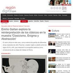 Emilio Gañan explora la reinterpretación de los clásicos en la muestra Clasicismo, Enigma y Abstracción