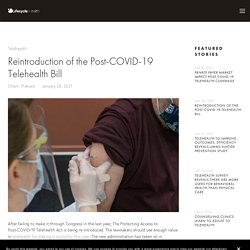 Reintroduction of the Post-COVID-19 Telehealth Bill — Lifecycle Health