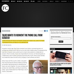 Talko Wants To Reinvent The Phone Call From Scratch