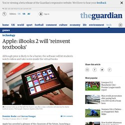 Apple: iBooks 2 will 'reinvent textbooks'