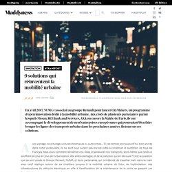 9 solutions qui réinventent la mobilité urbaine - Maddyness - Le Magazine des Startups Françaises
