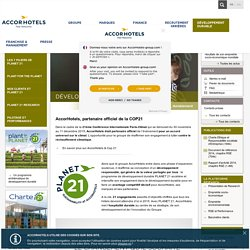 PLANET 21 - Réinventer l'hôtellerie, durablement