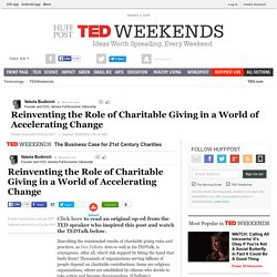 Reinventing the Role of Charitable Giving in a World of Accelerating Change