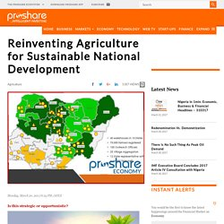 Reinventing Agriculture for Sustainable National Development