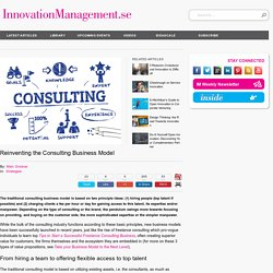 Reinventing the Consulting Business Model
