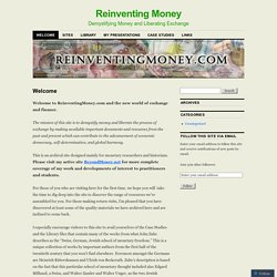 Reinventing Money Thomas H. Greco Jr.