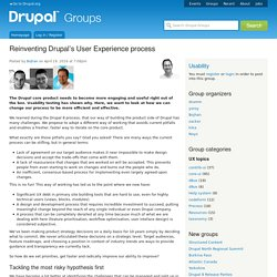 Reinventing Drupal's User Experience process