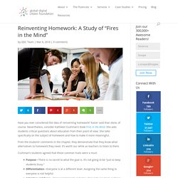 "Reinventing Homework: A Study of ""Fires in the Mind"""
