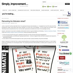 Reinventing the Motivation wheel?
