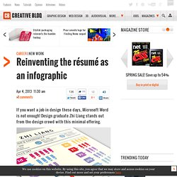 Reinventing the résumé as an infographic