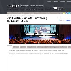 2013 WISE Summit: Reinventing Education for Life