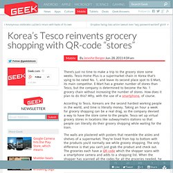"Korea's Tesco reinvents grocery shopping with QR-code ""stores"" – Cell Phones & Mobile Device Technology News & Updates"