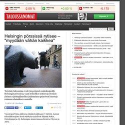 Helsingin pörssi laskee reippaasti tulosaamuna
