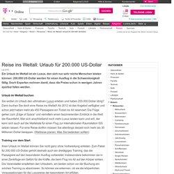 Reise ins Weltall: Urlaub für 200.000 US-Dollar