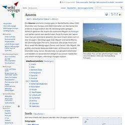 Azoren – Reiseführer und Reiseinformationen auf Wikivoyage