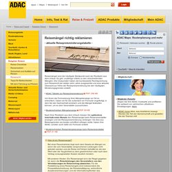 Reisemängel - Tabelle ADAC