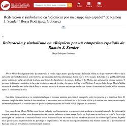 Reiteración y simbolismo en Réquiem por un campesino español
