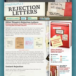 Other People's Rejection Letters - Book - Clarkson Potter