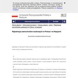 Rejestracja samochodów osobowych w Polsce i w Hiszpanii