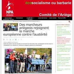 Des marcheurs ariègeois rejoignent la marche européenne contre l'austérité