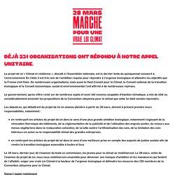 Rejoignez l'appel de la Marche pour une vraie Loi Climat le 28 mars !