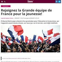 Rejoignez la Grande équipe de France pour la jeunesse!