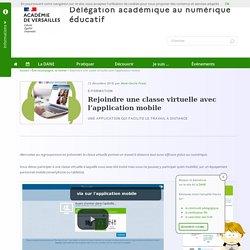 Rejoindre une classe virtuelle avec l'application mobile