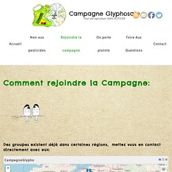 Rejoindre la campagne – Campagne Glyphosate