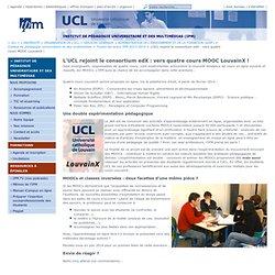 L'UCL rejoint le consortium edX : vers quatre cours MOOC LouvainX !