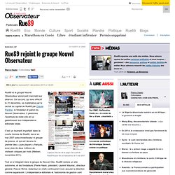 Alliance entre Rue89 et le groupe Nouvel Observateur