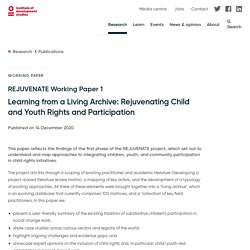 Mélodie - Learning from a Living Archive: Rejuvenating Child and Youth Rights and Participation