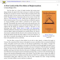 """""""A New Look at the Five Rites of Rejuvenation"""" by James Borges"""