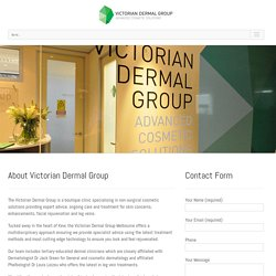 Facial Rejuvenation & Vein Treatments Melbourne