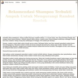 Rekomendasi Shampoo Terbukti Ampuh Mengurangi Rambut Rontok