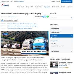 Rekomendasi 7 Rental Mobil Jogja Unit Lengkap