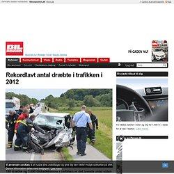 Rekordlavt antal dræbte i trafikken i 2012 - Bilmagasinet.dk