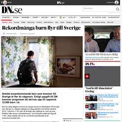 Rekordmånga barn flyr till Sverige