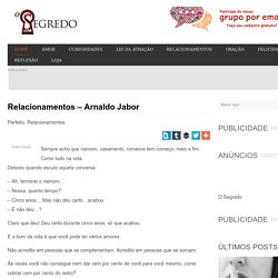 Relacionamentos - Arnaldo Jabor -
