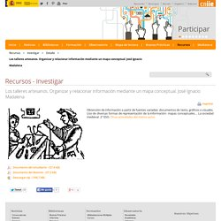 Los talleres artesanos. Organizar y relacionar información mediante un mapa conceptual. José Ignacio Madalena - Detalle - educaLAB