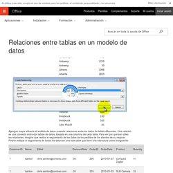 Relaciones entre tablas en un modelo de datos - Excel