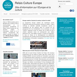 Relais Culture Europe: Accueil
