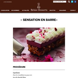SENSATION EN BARRE (pop corn, framboise)