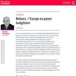 Relance : l'Europe en panne budgétaire