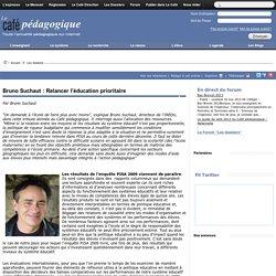 Bruno Suchaut : Relancer l'éducation prioritaire