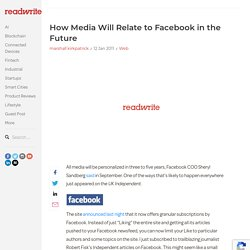 How Media Will Relate to Facebook in the Future