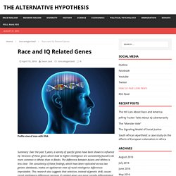 Race and IQ Related Genes – The Alternative Hypothesis