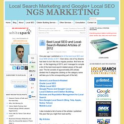 Best Local SEO and Local-Search-Related Articles of 2012
