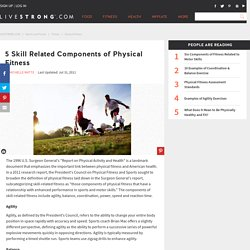 5 Skill Related Components of Physical Fitness
