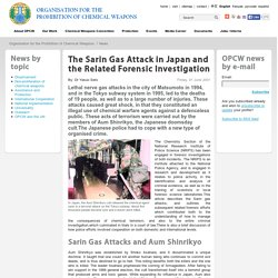 The Sarin Gas Attack in Japan and the Related Forensic Investigation