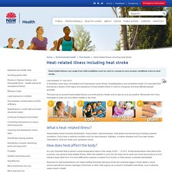 Heat-related illness including heat stroke - Fact sheets
